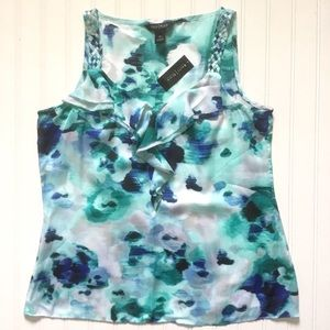 New WHBM Ruffled Tank M